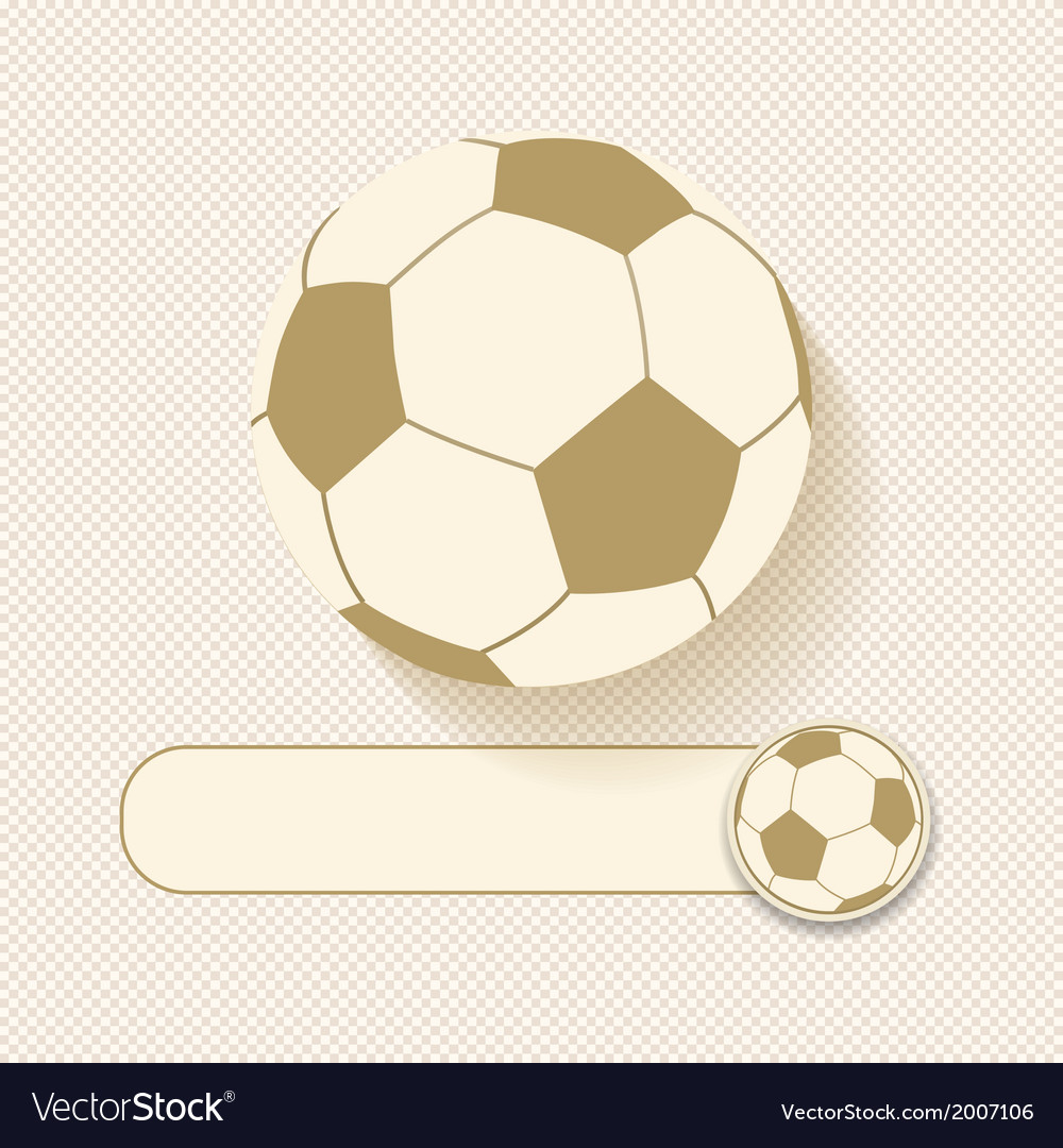 Football and banner vector | Price: 1 Credit (USD $1)