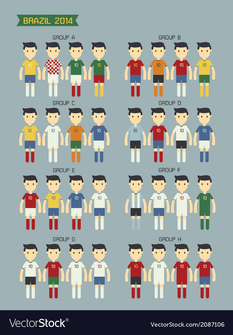Group world cup2014 vector   Price: 1 Credit (USD $1)