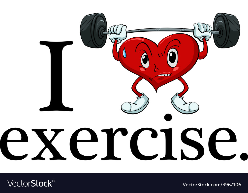 I love exercise vector | Price: 1 Credit (USD $1)