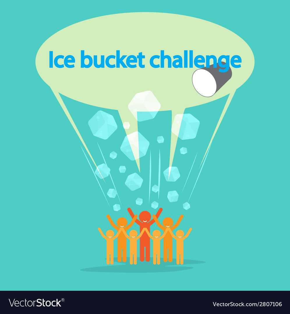 Ice bucket challenge concept vector | Price: 1 Credit (USD $1)