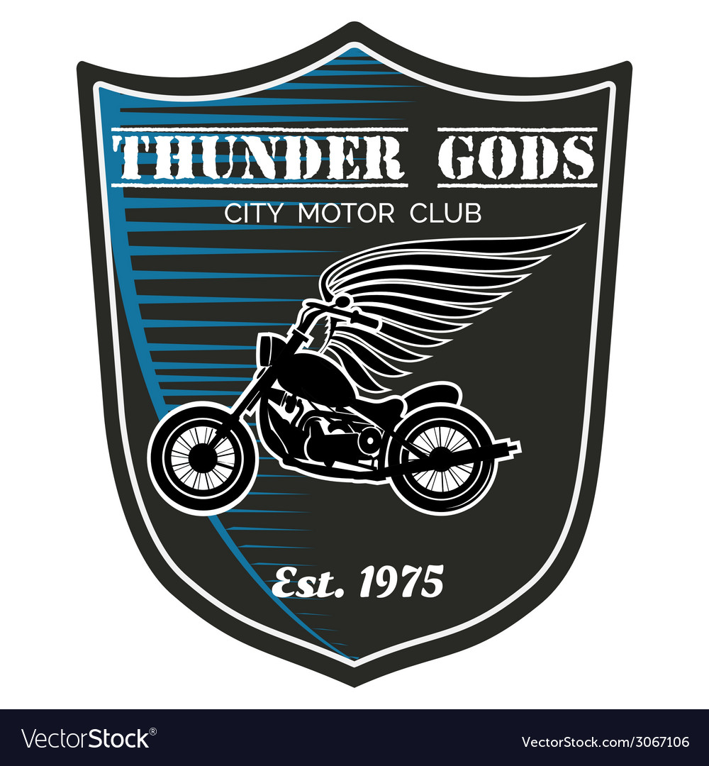 Motorcycle club label - thunder gods vector | Price: 1 Credit (USD $1)