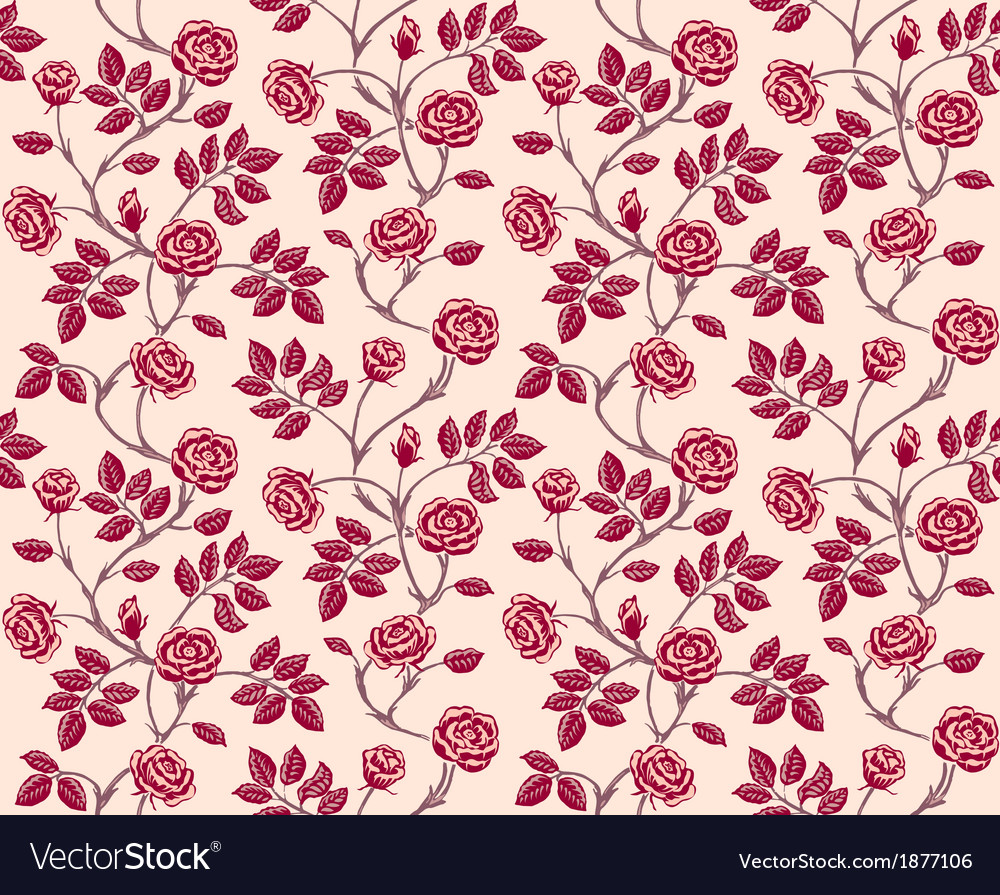 Vintage floral seamless pattern classic hand drawn vector   Price: 1 Credit (USD $1)