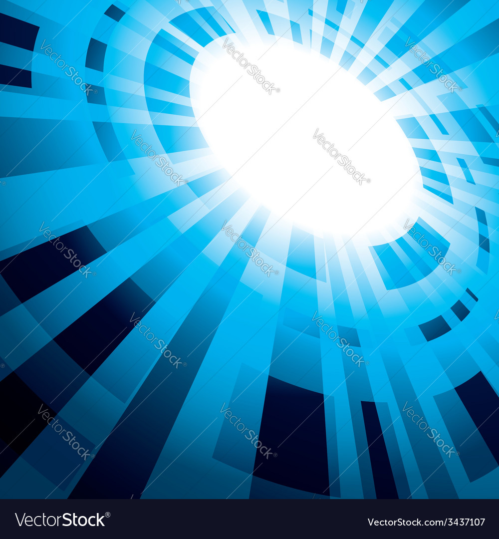 Blue abstract background with flash vector | Price: 1 Credit (USD $1)