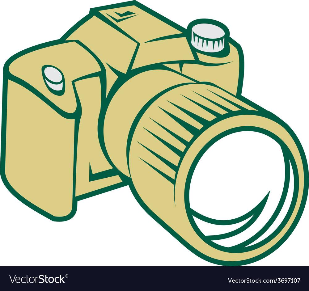 Camera dslr retro vector | Price: 1 Credit (USD $1)