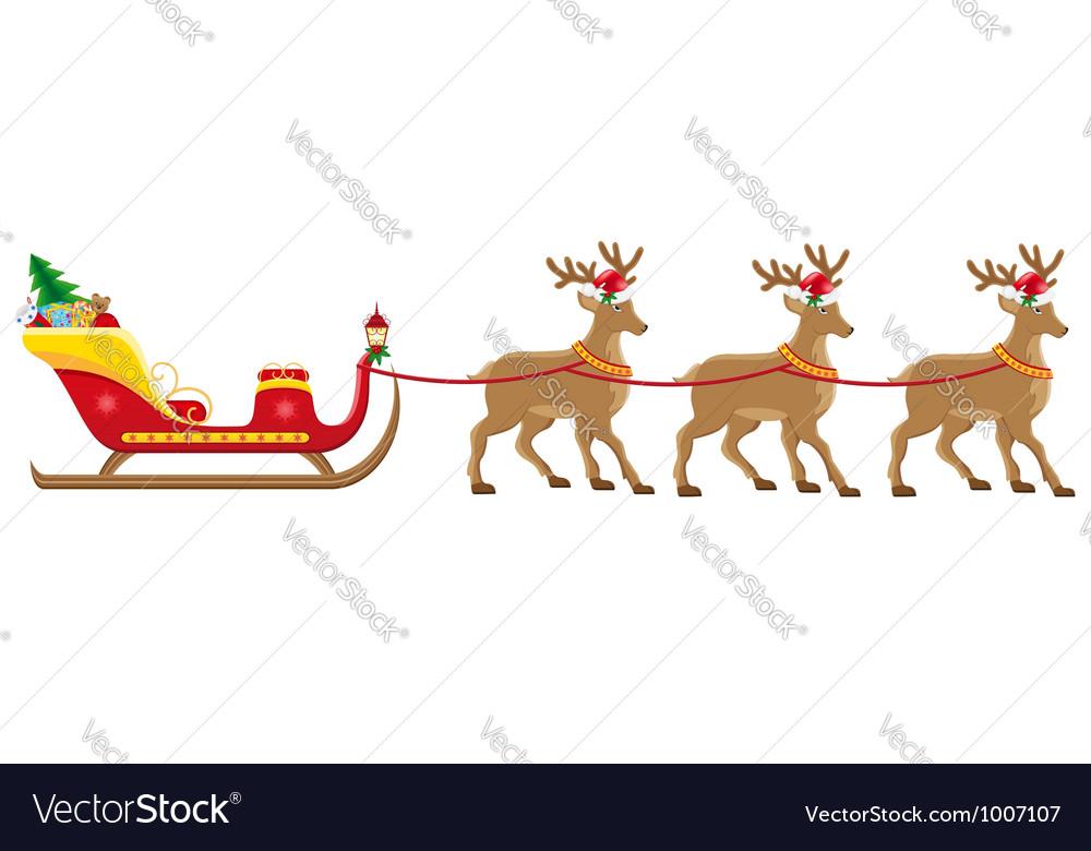 Christmas santa sleigh 05 vector | Price: 3 Credit (USD $3)