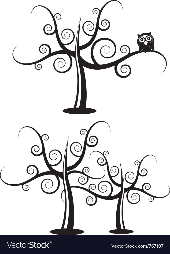Floral filigree tree vector | Price: 1 Credit (USD $1)