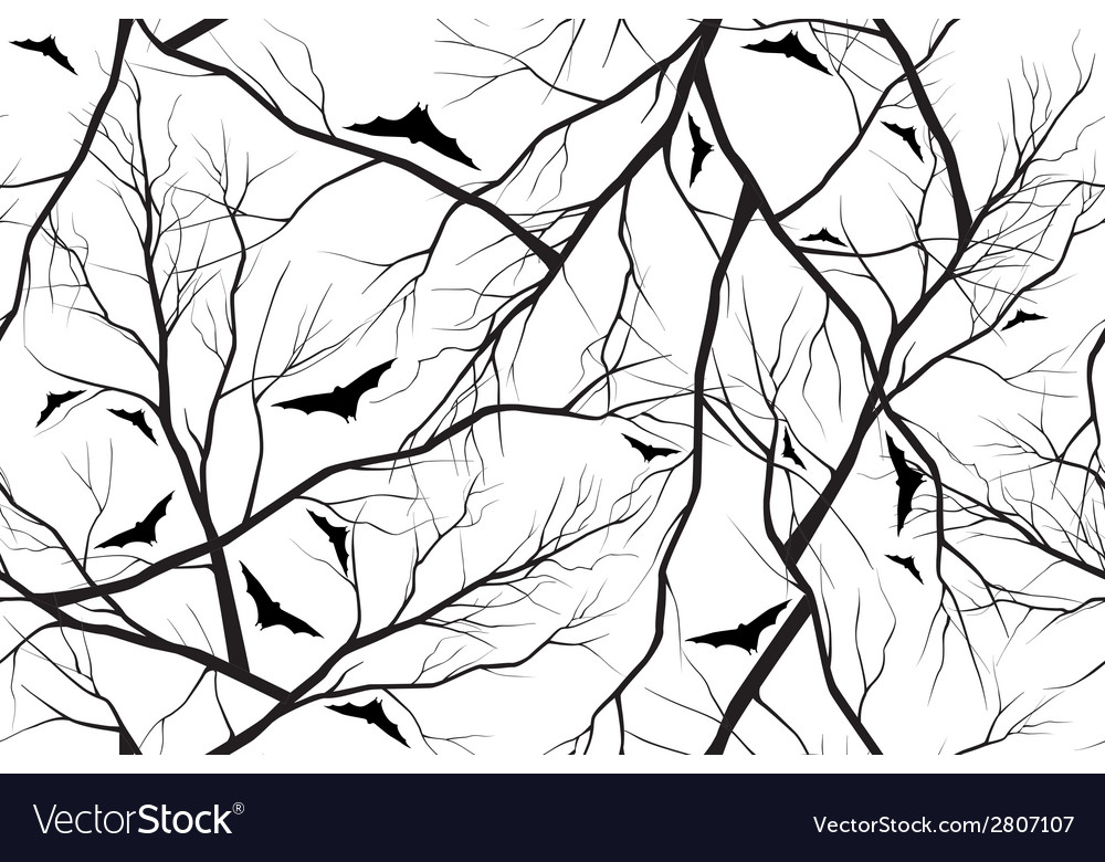 Halloween background grunge image of forest vector | Price: 1 Credit (USD $1)