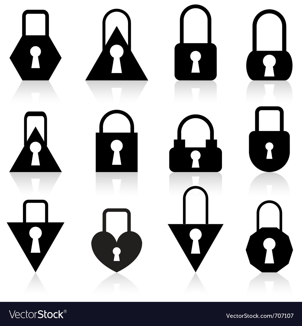 Metal locks vector | Price: 1 Credit (USD $1)