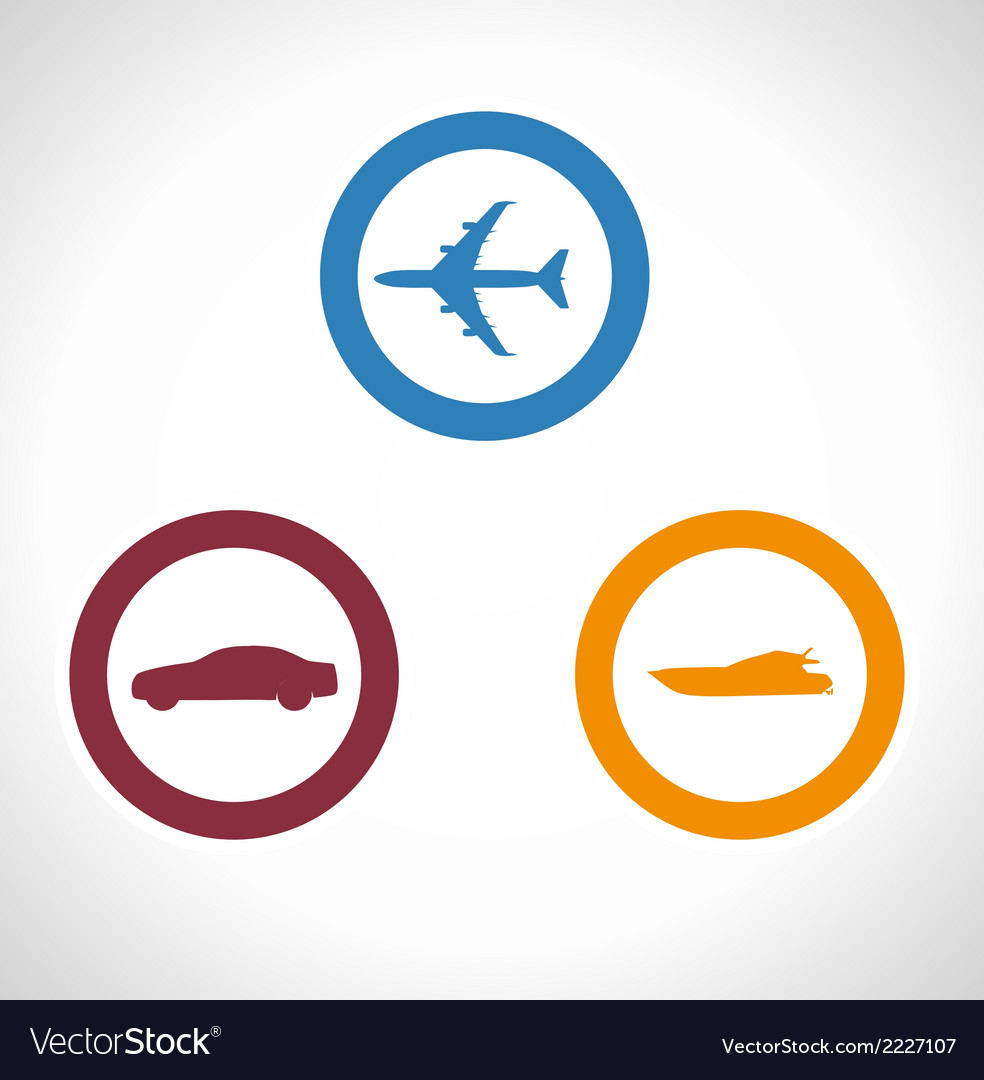 Of transportation icons boat p vector | Price: 1 Credit (USD $1)