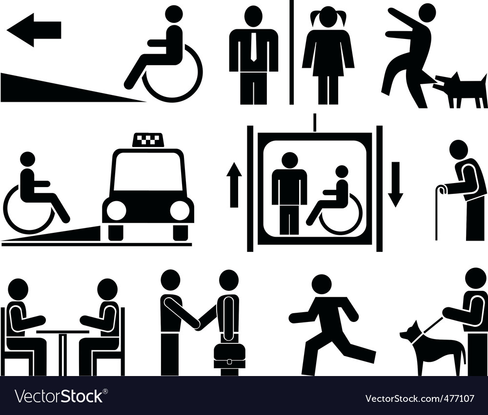 People icons pictograms vector | Price: 3 Credit (USD $3)