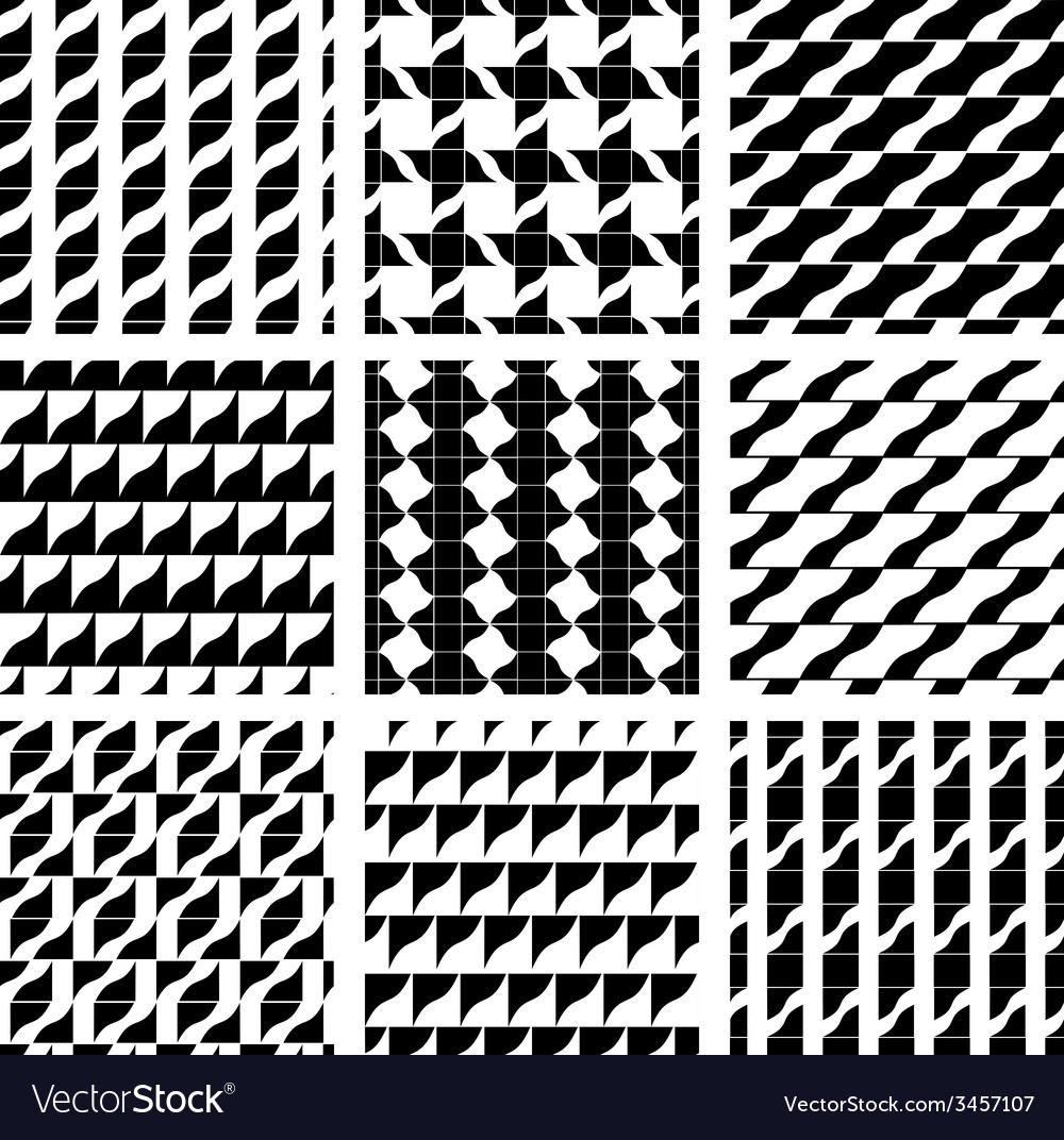 Set of grate seamless patterns with geometric vector | Price: 1 Credit (USD $1)