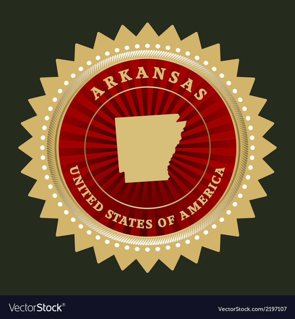 Star label arkansas vector | Price: 1 Credit (USD $1)