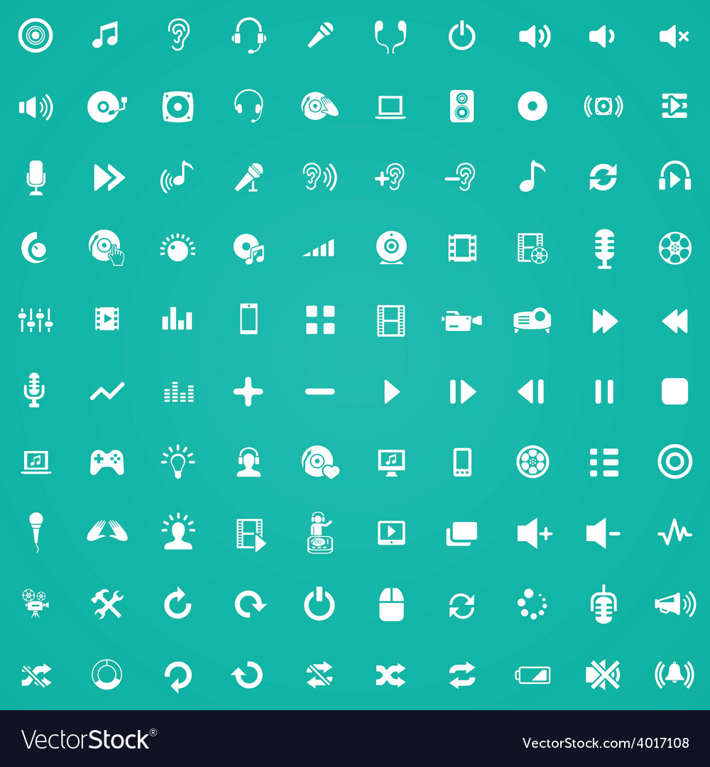 100 dj icons vector | Price: 1 Credit (USD $1)