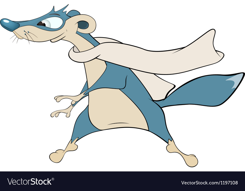 Dark blue mongoose cartoon vector | Price: 3 Credit (USD $3)