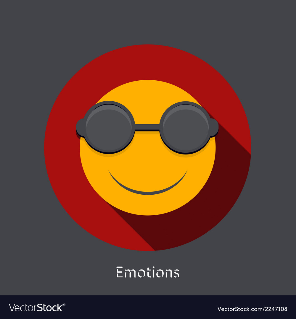 Emotion flat icon on gray background vector | Price: 1 Credit (USD $1)