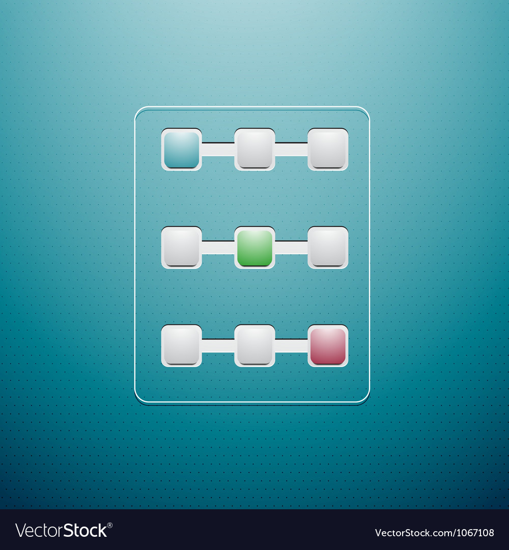 Progress controls ui vector | Price: 1 Credit (USD $1)