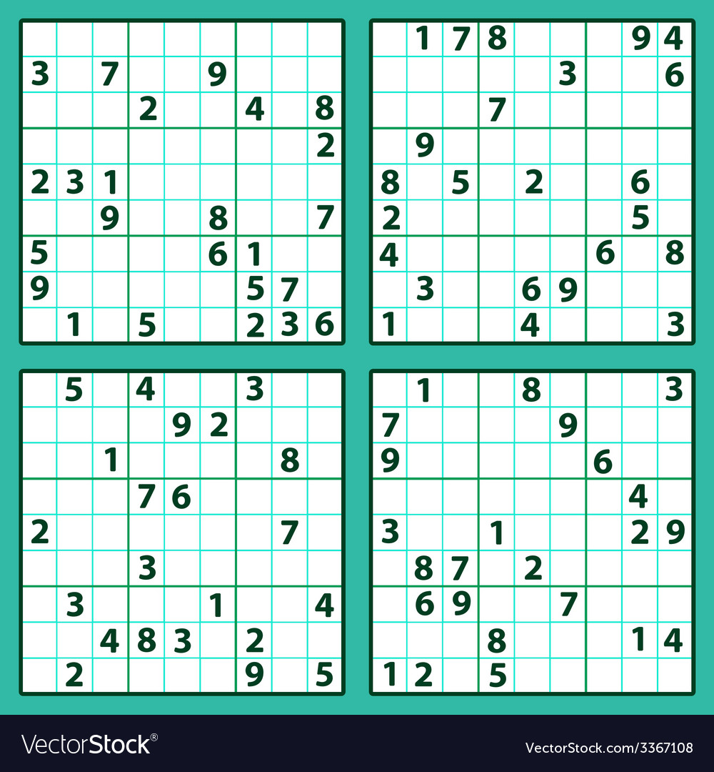 Sudoku vector | Price: 1 Credit (USD $1)