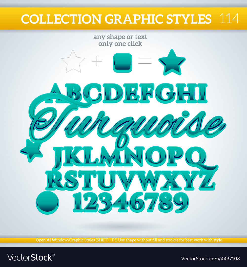 Turquoise graphic style for design vector | Price: 1 Credit (USD $1)