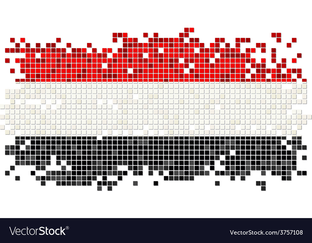 Yemeni grunge tile flag vector | Price: 1 Credit (USD $1)