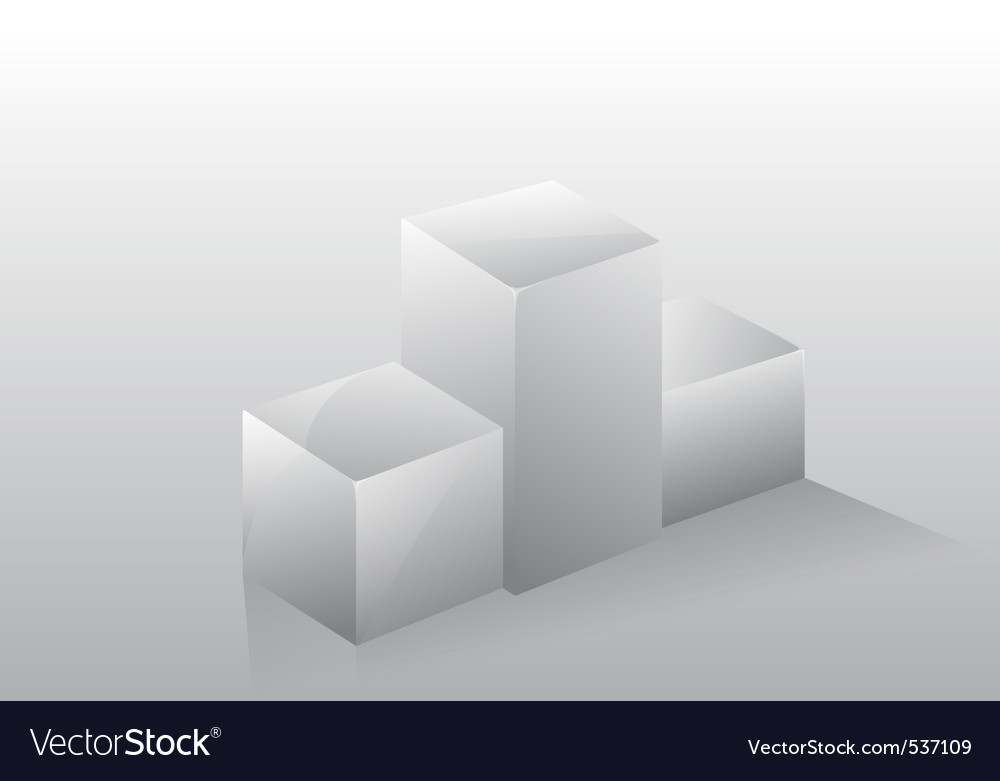 3d isolated podium pedestal vector | Price: 1 Credit (USD $1)