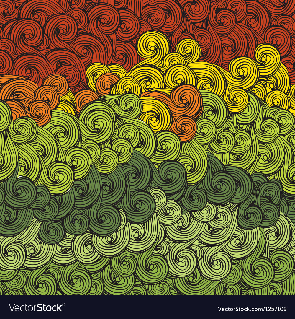 Abstract multi colored wave pattern vector | Price: 1 Credit (USD $1)