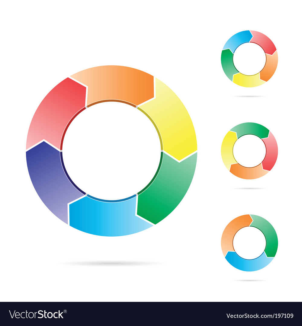 Arrows in a circle flow vector | Price: 1 Credit (USD $1)