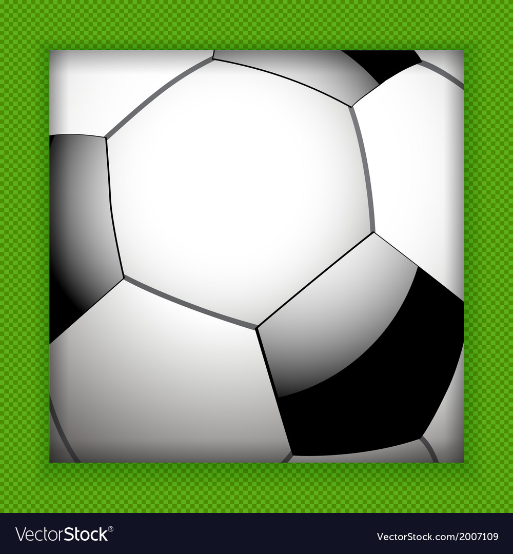 Football close up background vector | Price: 1 Credit (USD $1)