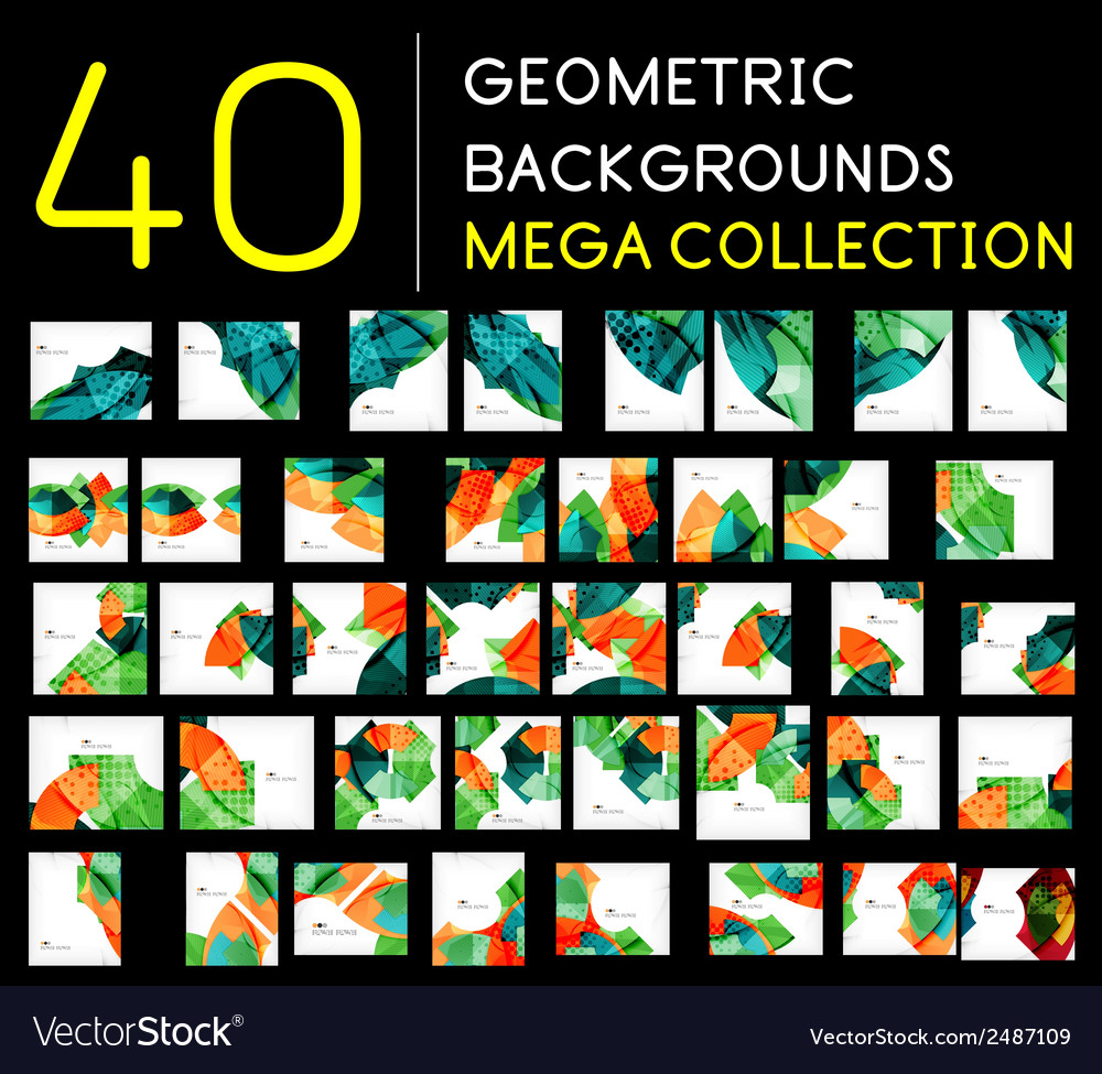 Huge mega collection of abstract backgrounds vector | Price: 1 Credit (USD $1)