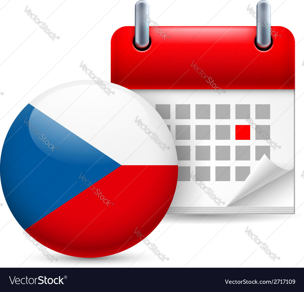 Icon of national day in czech republic vector | Price: 1 Credit (USD $1)