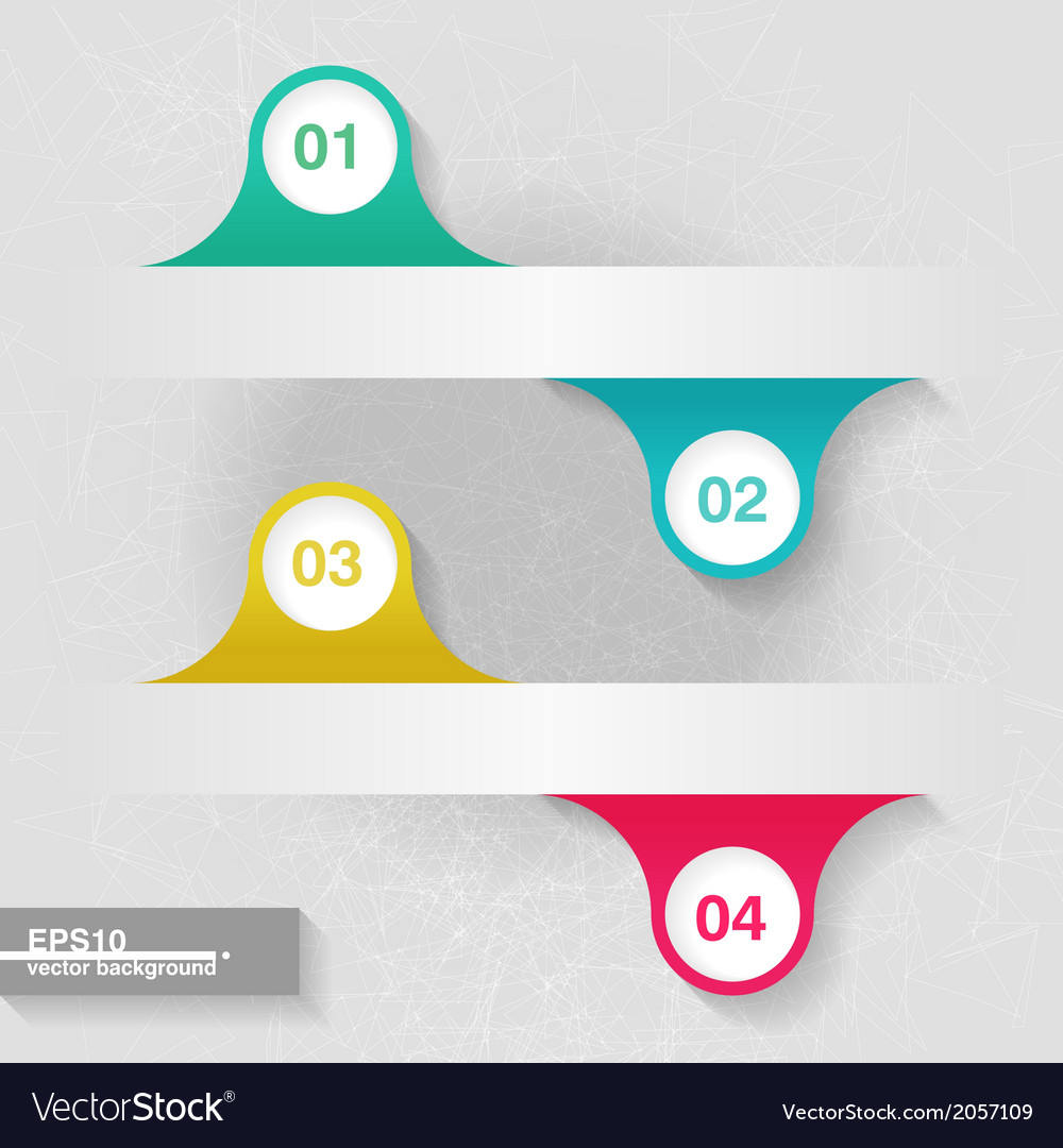 Infographic template with four colorful labels vector | Price: 1 Credit (USD $1)