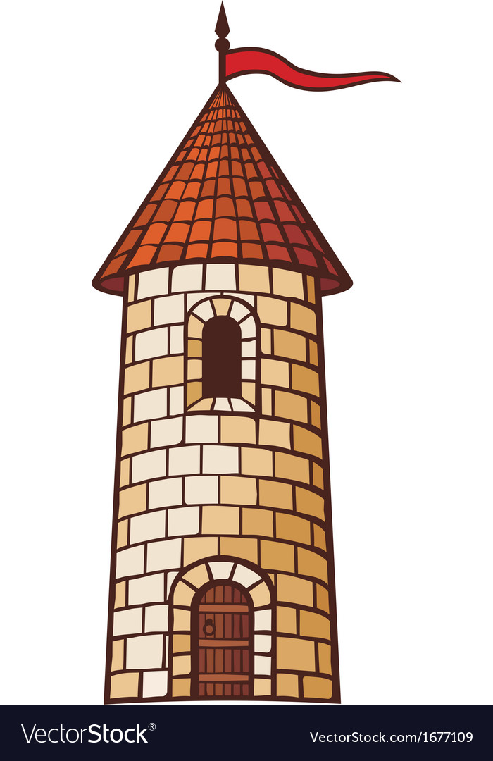 Medieval tower vector | Price: 1 Credit (USD $1)