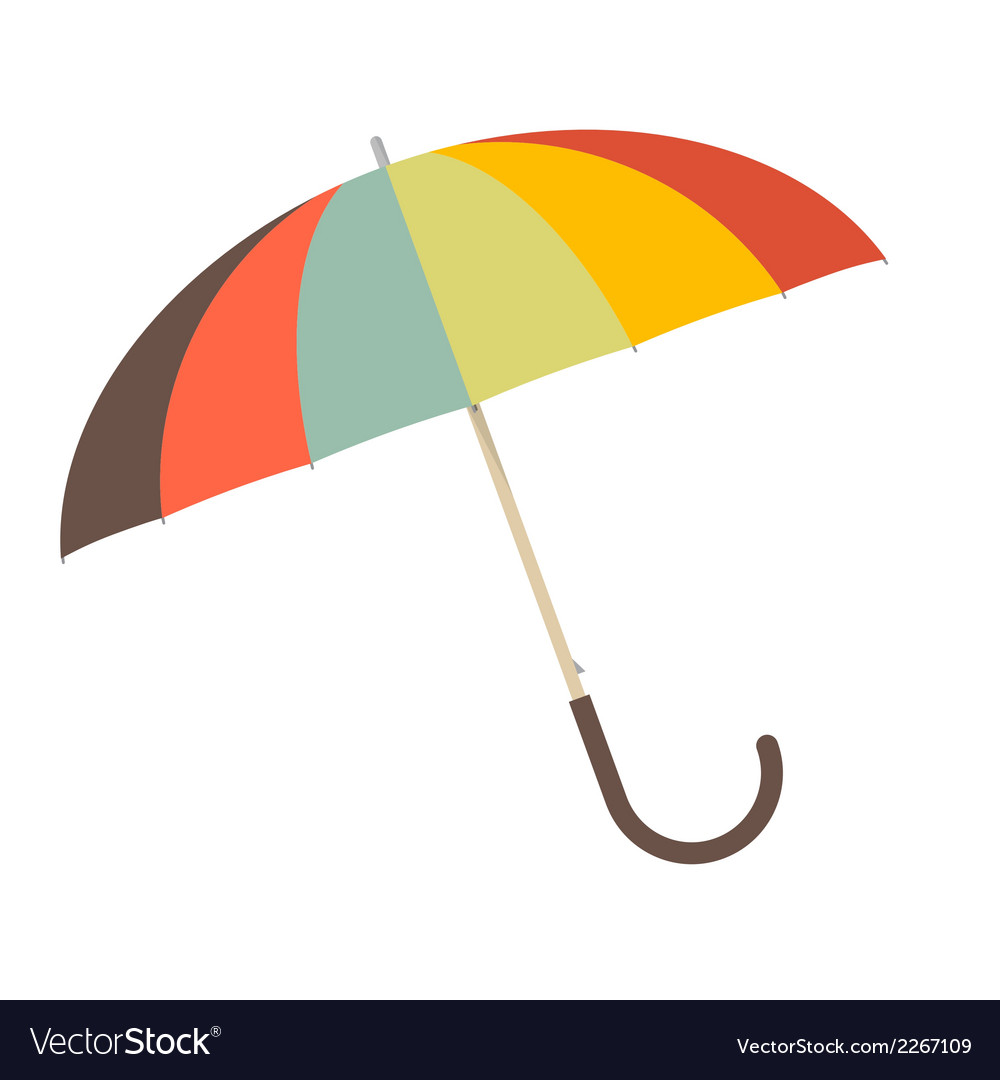 Retro paper umbrella - parasol vector | Price: 1 Credit (USD $1)