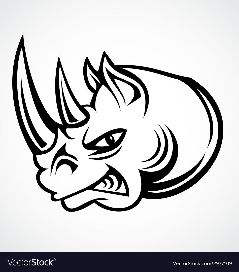 Rhinos head tribal vector | Price: 1 Credit (USD $1)