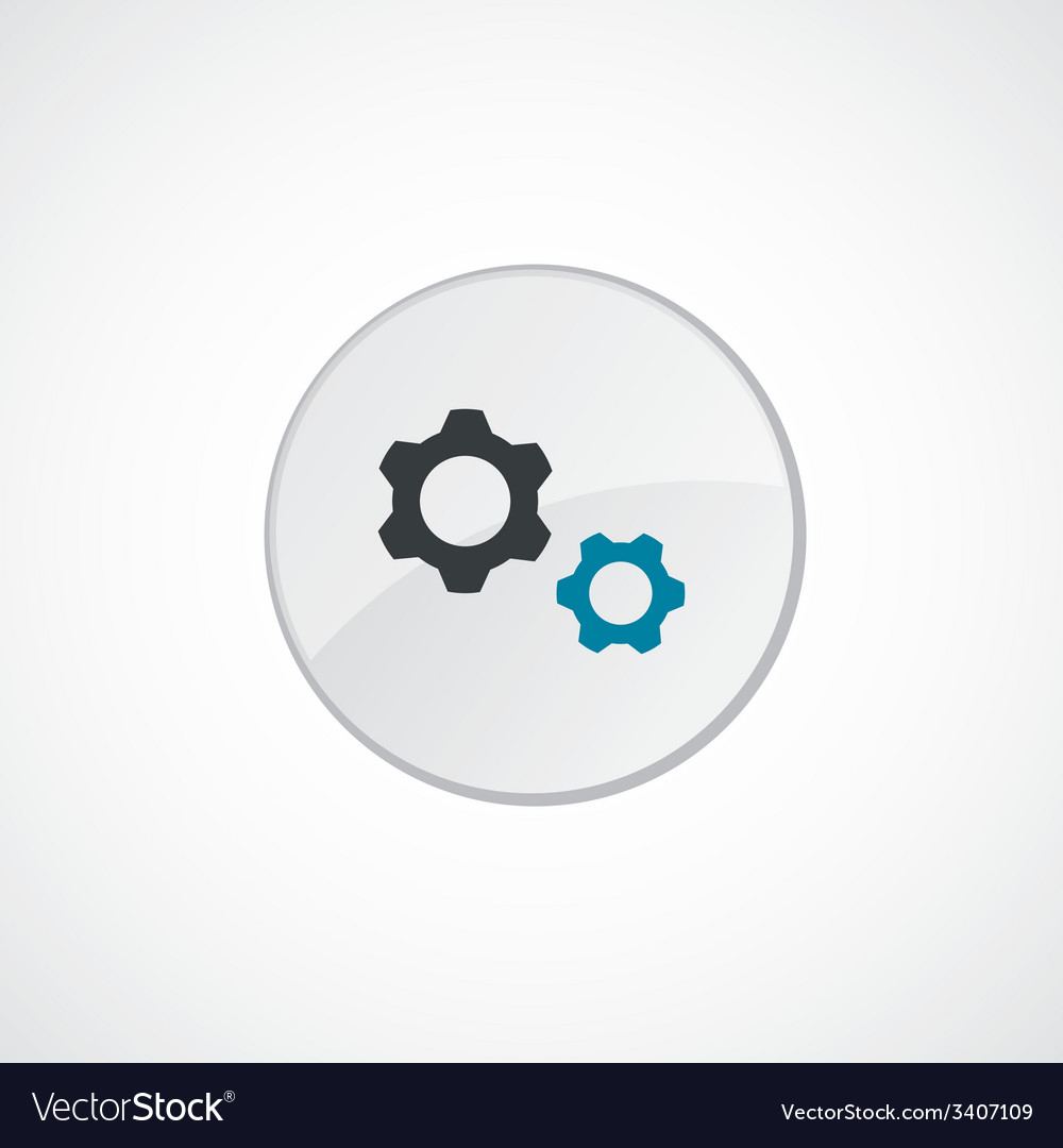 Settings icon 2 colored vector | Price: 1 Credit (USD $1)