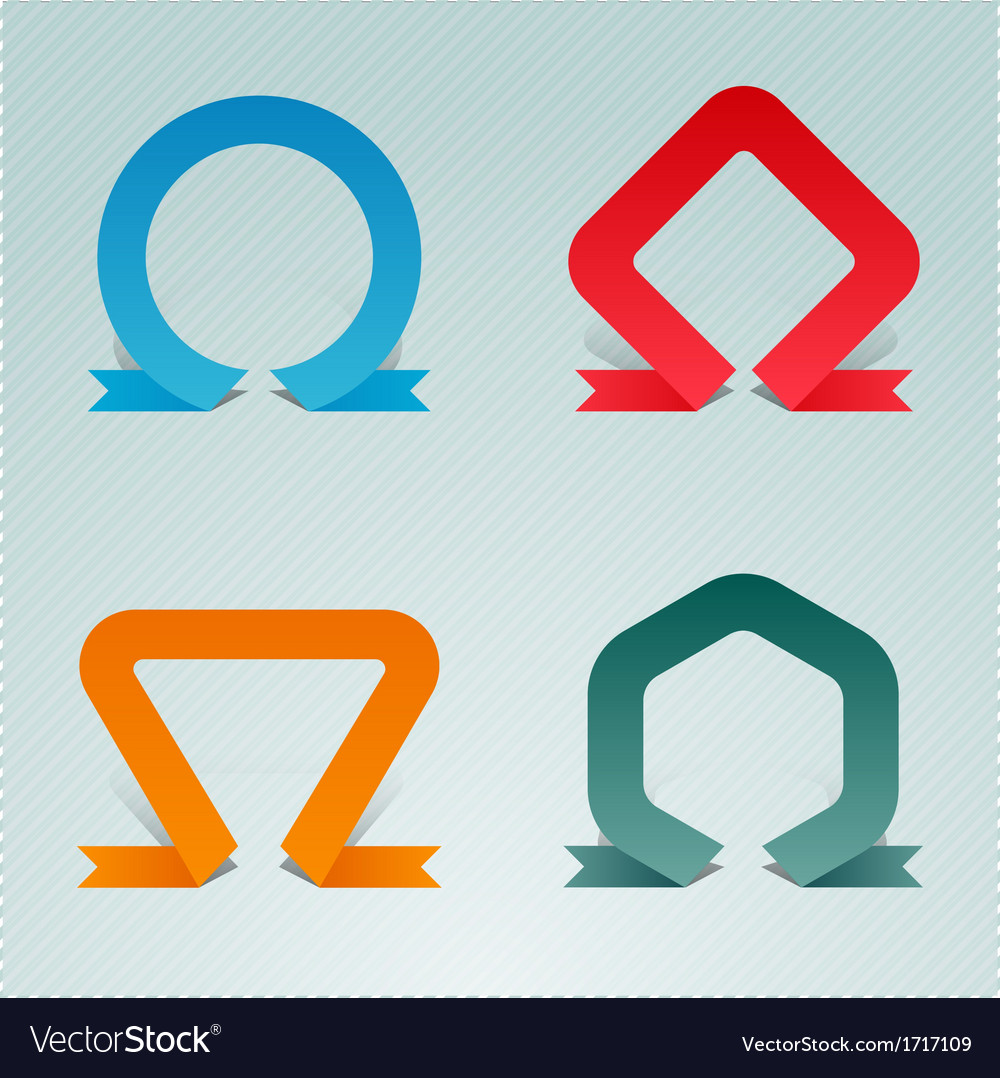 Standing upright folded ribbons vector | Price: 1 Credit (USD $1)