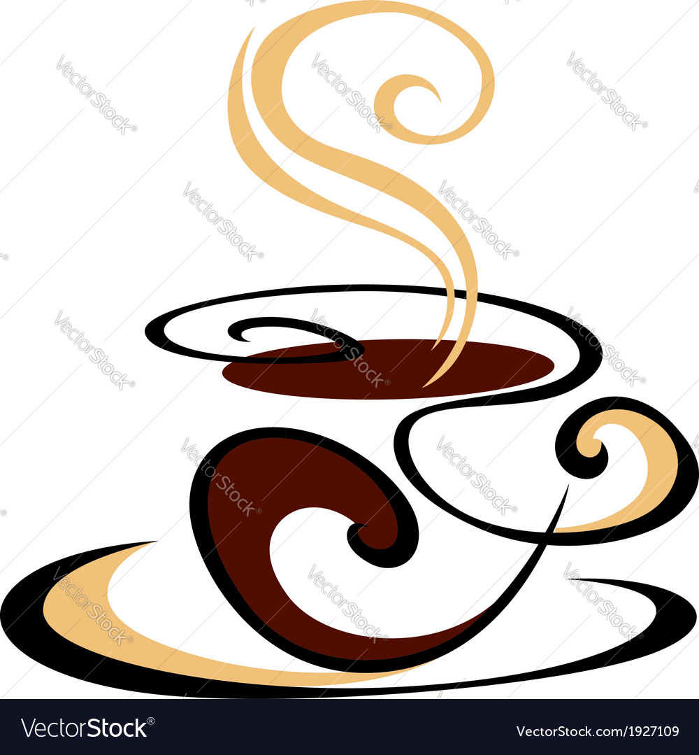 Swirling cup of steaming coffee vector | Price: 1 Credit (USD $1)