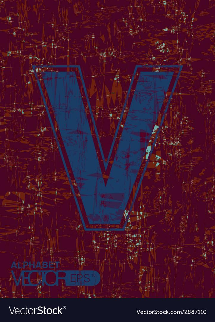 Alphabet v vector | Price: 1 Credit (USD $1)