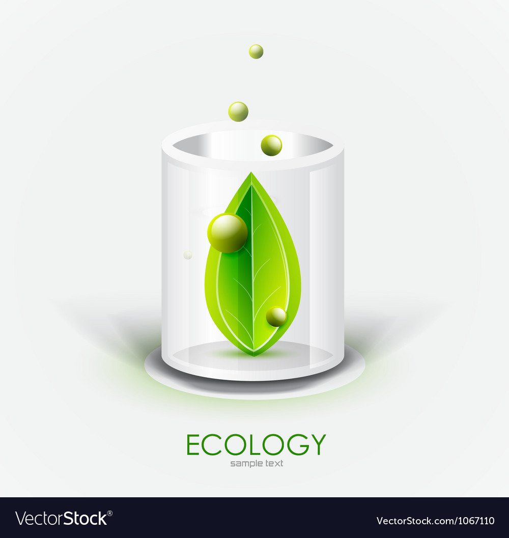 Eco glass vessel vector | Price: 1 Credit (USD $1)