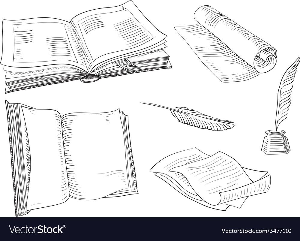 Retro books vector | Price: 1 Credit (USD $1)