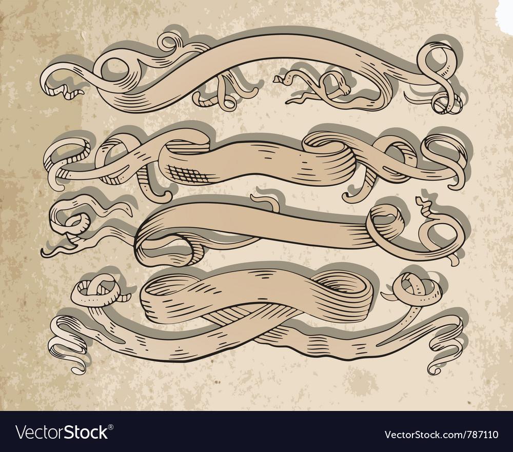 Scrolls set vector | Price: 1 Credit (USD $1)