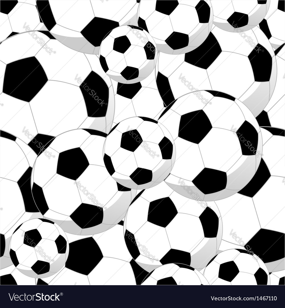 Soccer balls seamless pattern vector | Price: 1 Credit (USD $1)