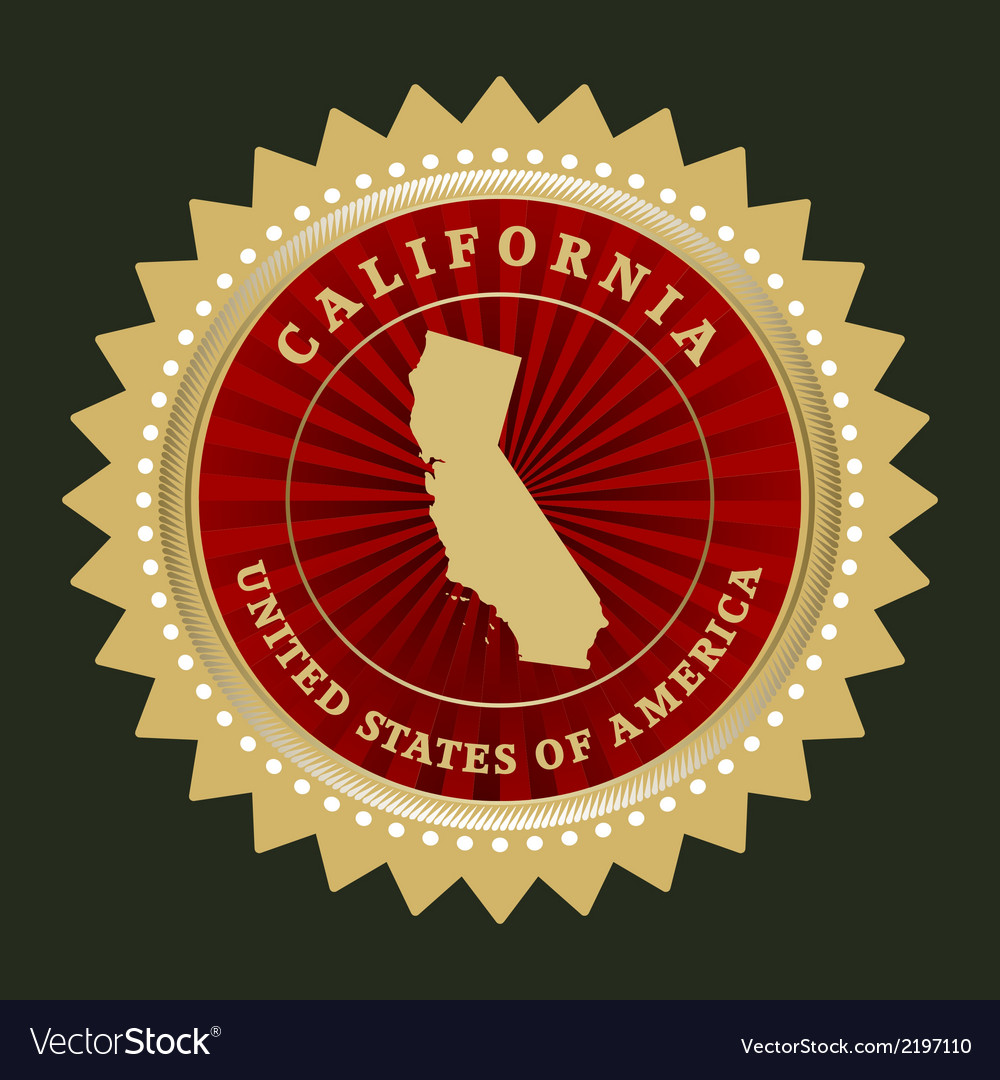 Star label california vector | Price: 1 Credit (USD $1)