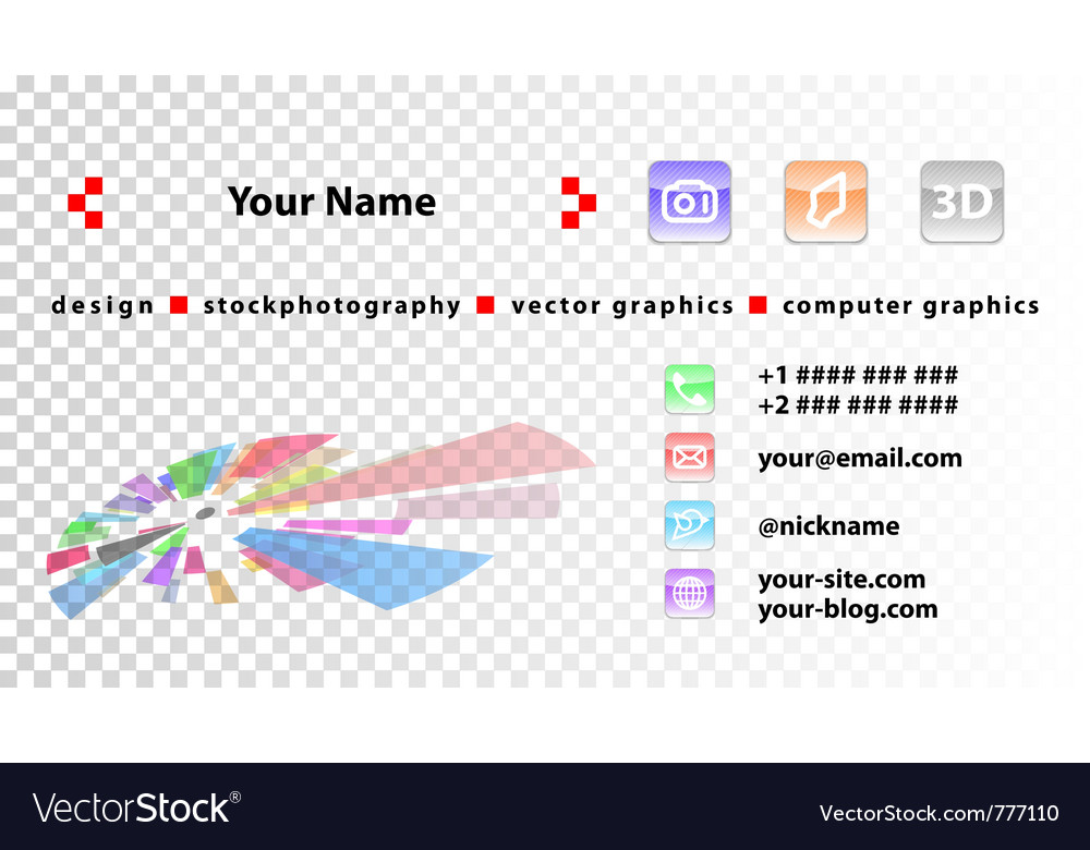 Template designer business cards vector | Price: 1 Credit (USD $1)
