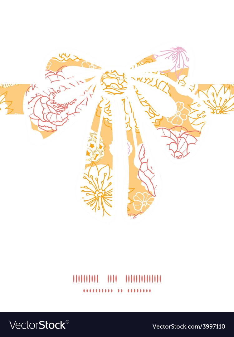 Warm day flowers gift bow silhouette vector | Price: 1 Credit (USD $1)