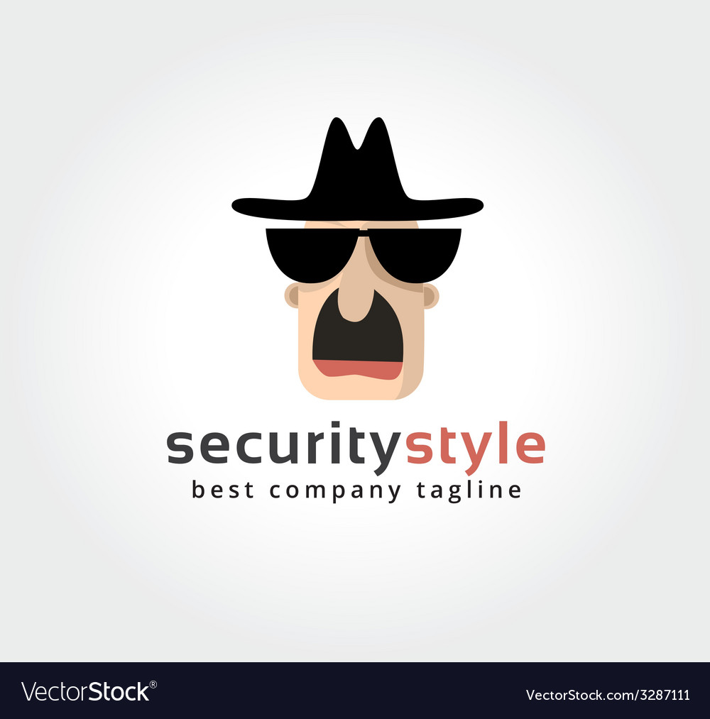 Abstract spy face logo icon concept logotype vector | Price: 1 Credit (USD $1)