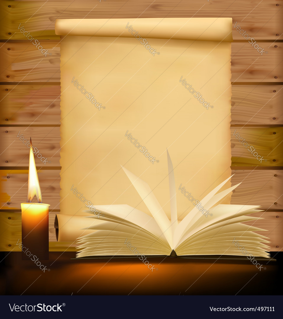 Book and paper vector | Price: 1 Credit (USD $1)