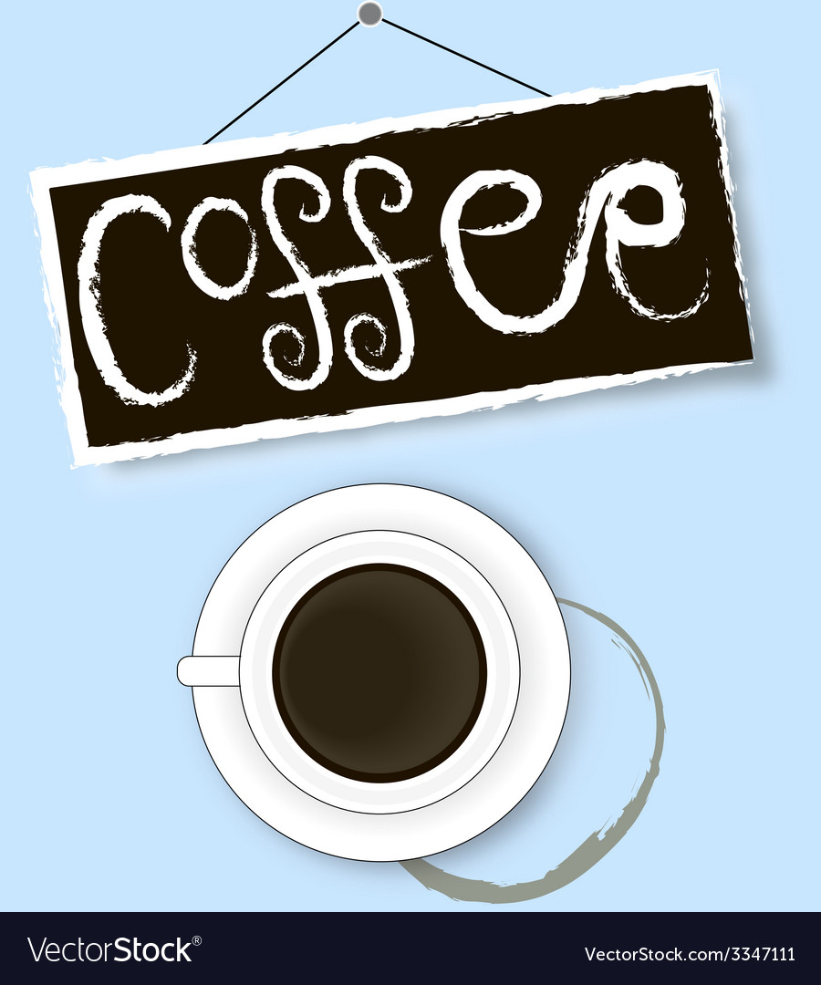 Coffee cup stain sign and shadow vector | Price: 1 Credit (USD $1)