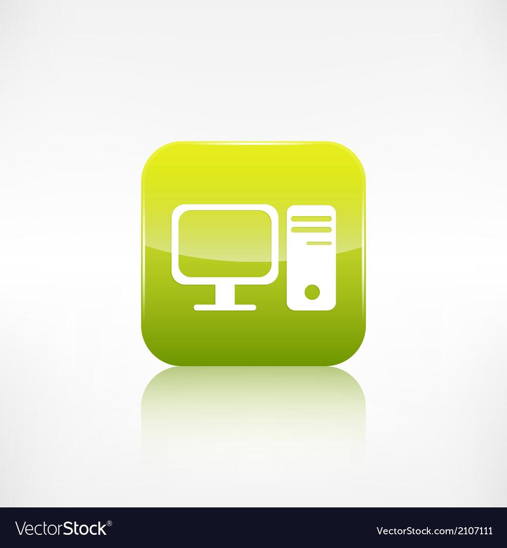 Computer web icon vector | Price: 1 Credit (USD $1)