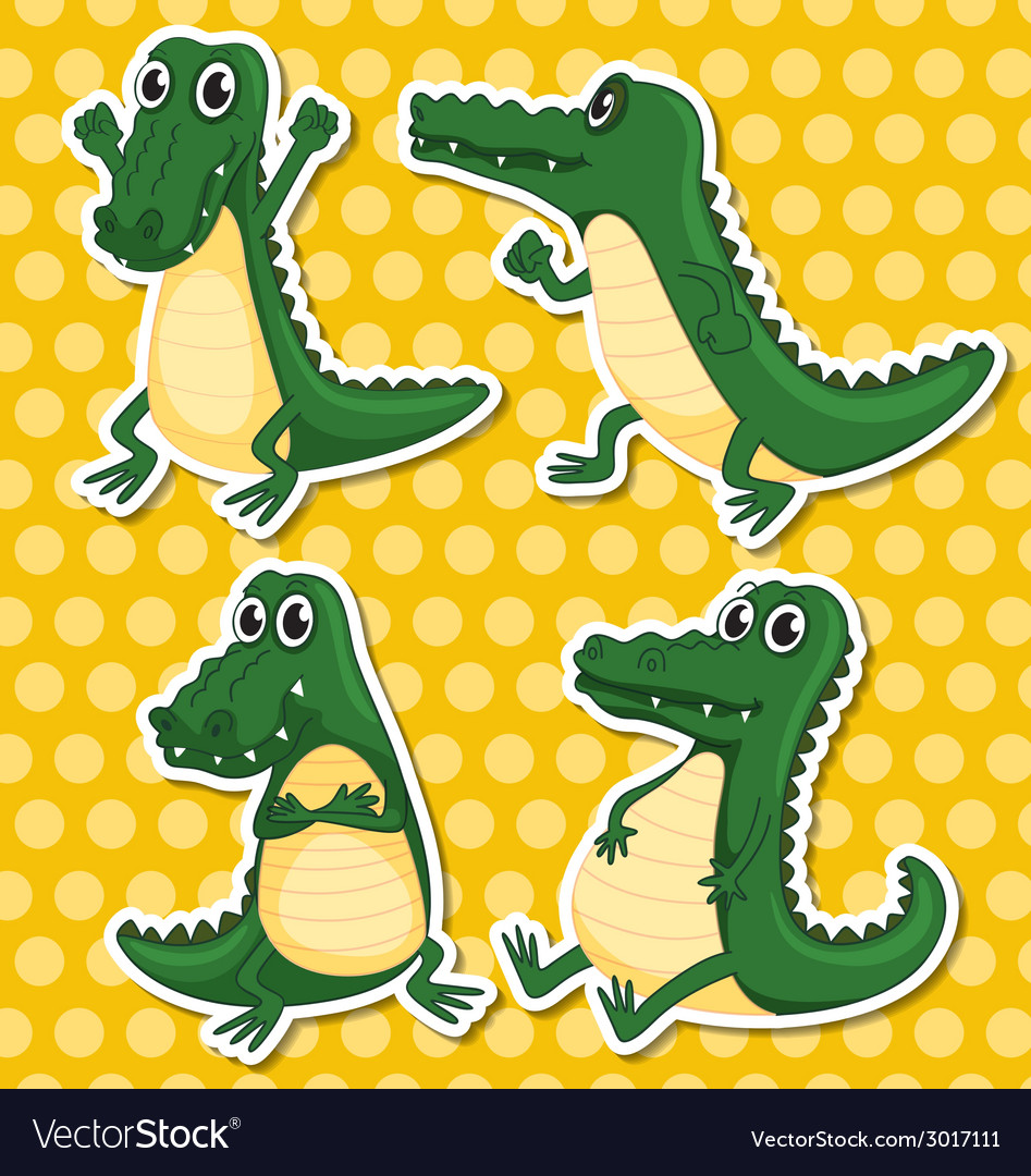 Crocodiles vector | Price: 1 Credit (USD $1)