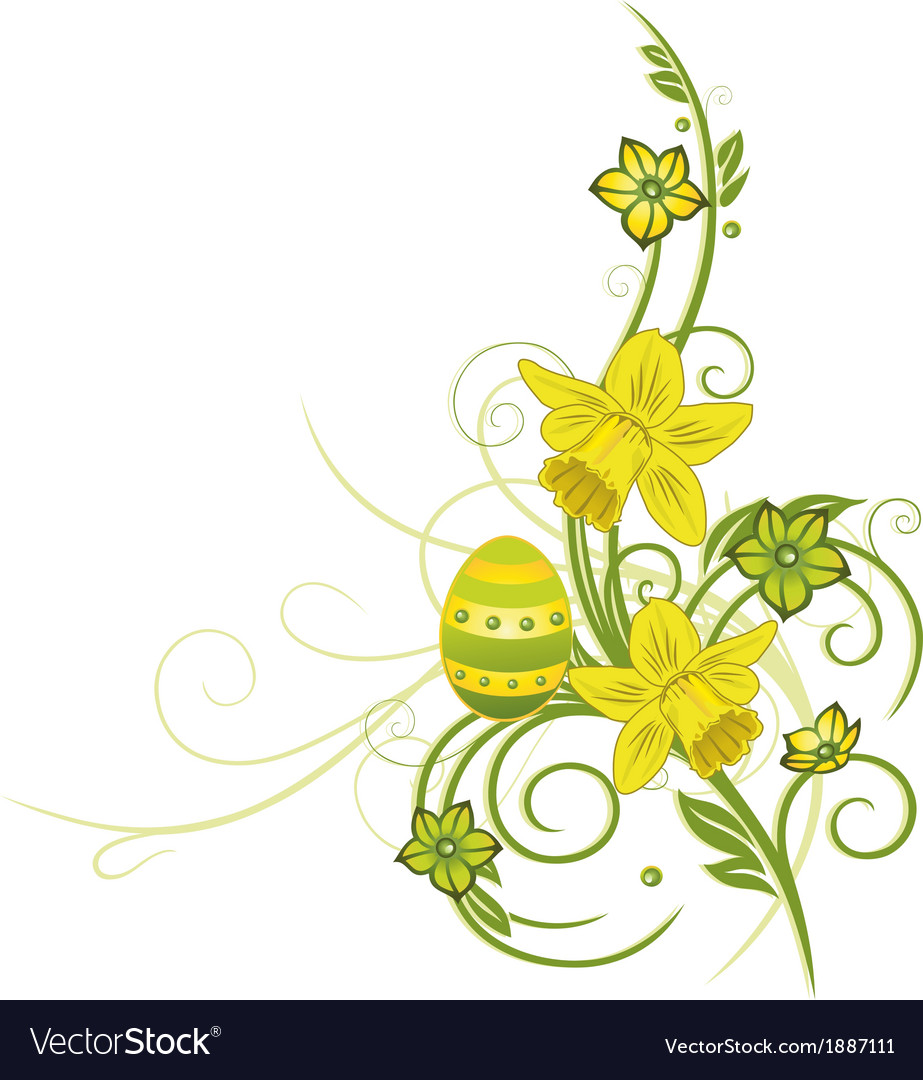 Easter eggs spring vector | Price: 1 Credit (USD $1)